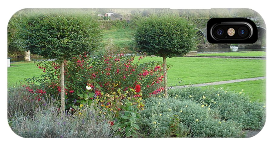 Inistioge IPhone X / XS Case featuring the photograph Garden On The Banks Of The Nore by Kelly Mezzapelle