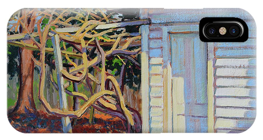 Impressionism IPhone X Case featuring the painting Garden Shed by Keith Burgess