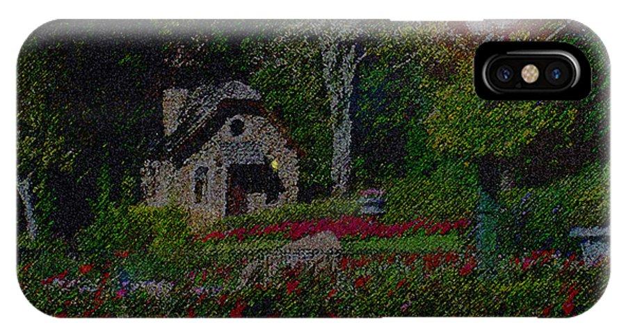Dusk IPhone X Case featuring the mixed media Garden Sleeping by Shirley Heyn