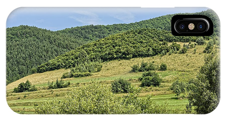 Active IPhone X Case featuring the photograph Gardening field near Orlat Sibiu county Romania by Adrian Bud