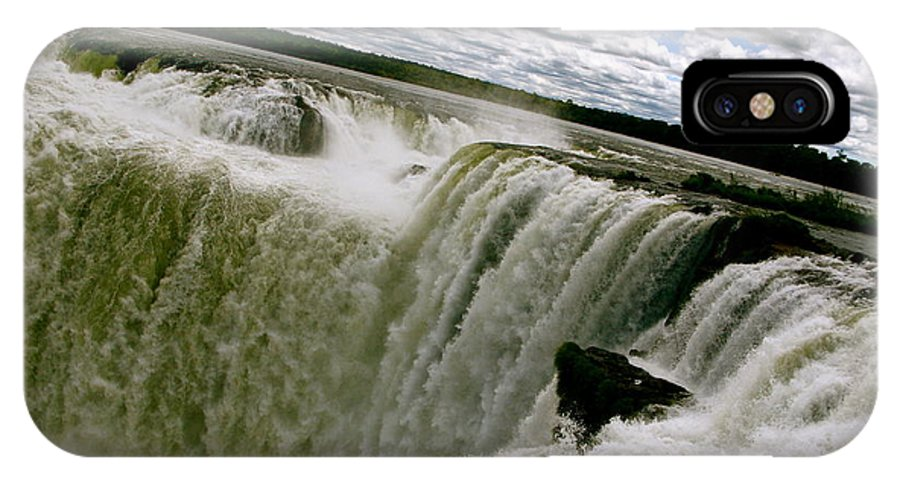 Waterfall IPhone X / XS Case featuring the photograph Garganta Del Diablo by Ariane Moshayedi