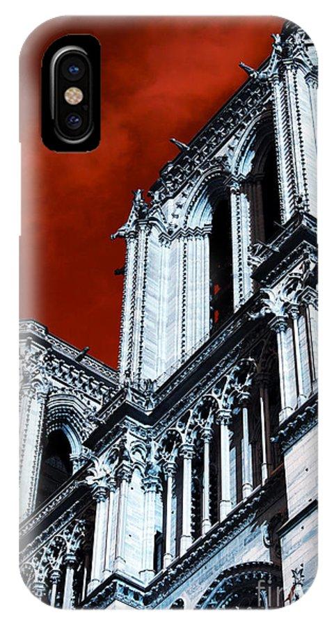 Gargoyle Pop Art IPhone X / XS Case featuring the photograph Gargoyle Pop Art by John Rizzuto