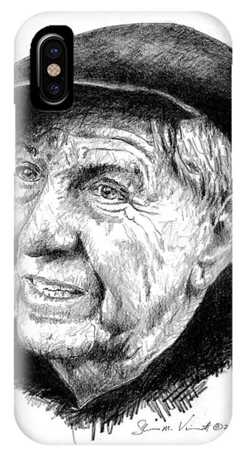 Garry Marshall IPhone X Case featuring the drawing Garry Marshall by Shawn Vincelette