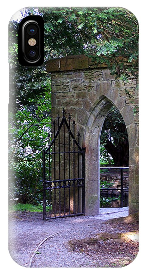 Irish IPhone X Case featuring the photograph Gate At Cong Abbey Cong Ireland by Teresa Mucha
