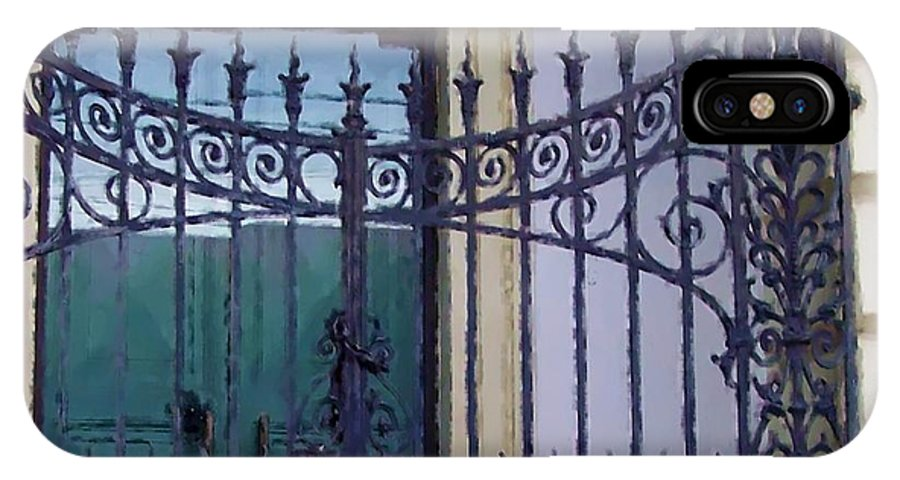 Gate IPhone X Case featuring the photograph Gated by Debbi Granruth