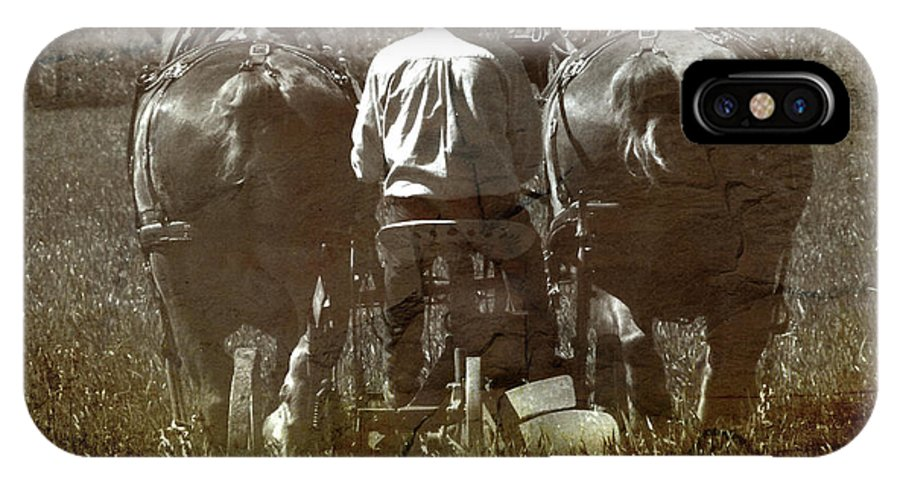 Horse IPhone X Case featuring the photograph Gathering Dusk by Char Szabo-Perricelli