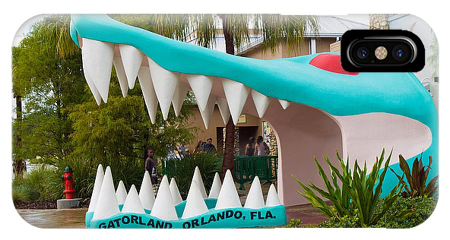 IPhone X Case featuring the photograph Gatorland In Kissimmee Is Just South Of Orlando In Florida by Allan Hughes