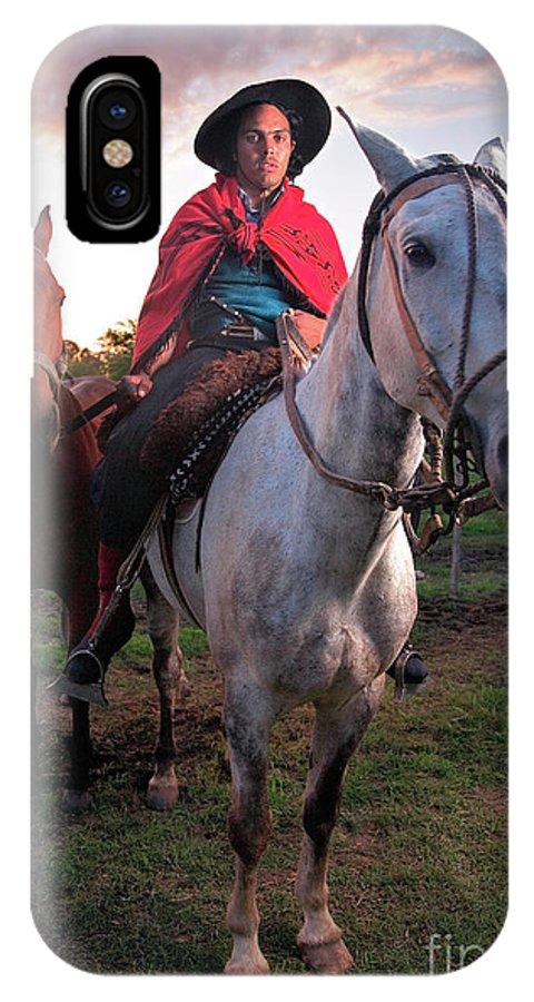 Gaucho IPhone X Case featuring the photograph Gaucho Argentino by Bernardo Galmarini