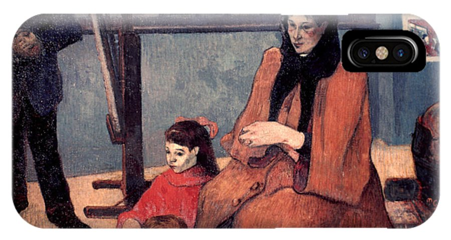 1889 IPhone X Case featuring the photograph Gaugin: Family, 1889 by Granger