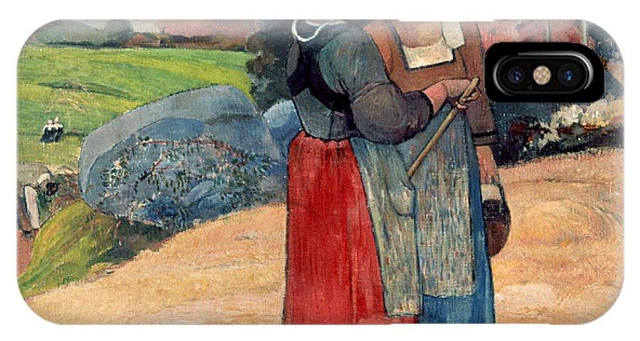 1894 IPhone X Case featuring the photograph Gauguin: Breton Women, 1894 by Granger