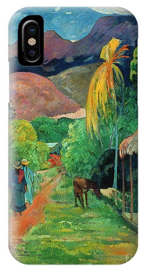 19th Century IPhone X Case featuring the photograph Gauguin Tahiti 19th Century by Granger