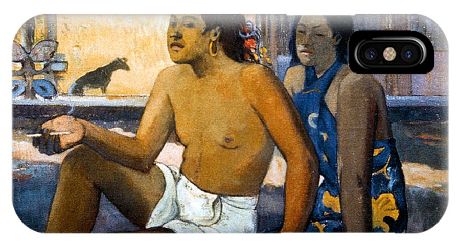 19th Century IPhone X Case featuring the photograph Gauguin:tahiti Women by Granger