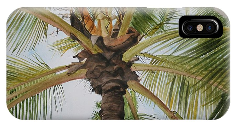 Palm Tree IPhone Case featuring the painting Gecko Heaven by Jean Blackmer