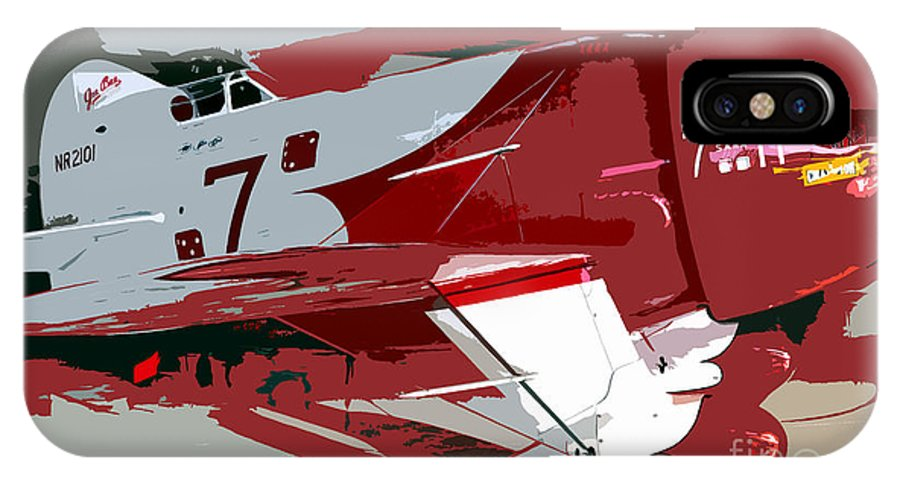 Gee Bee Racer IPhone X Case featuring the painting Gee Bee Racer by David Lee Thompson