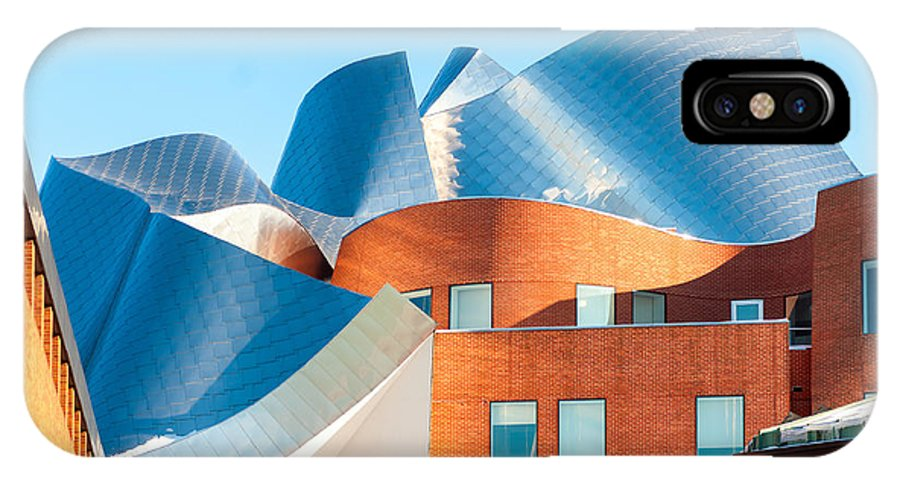 America IPhone X Case featuring the photograph Gehry Architecture by Kenneth Sponsler