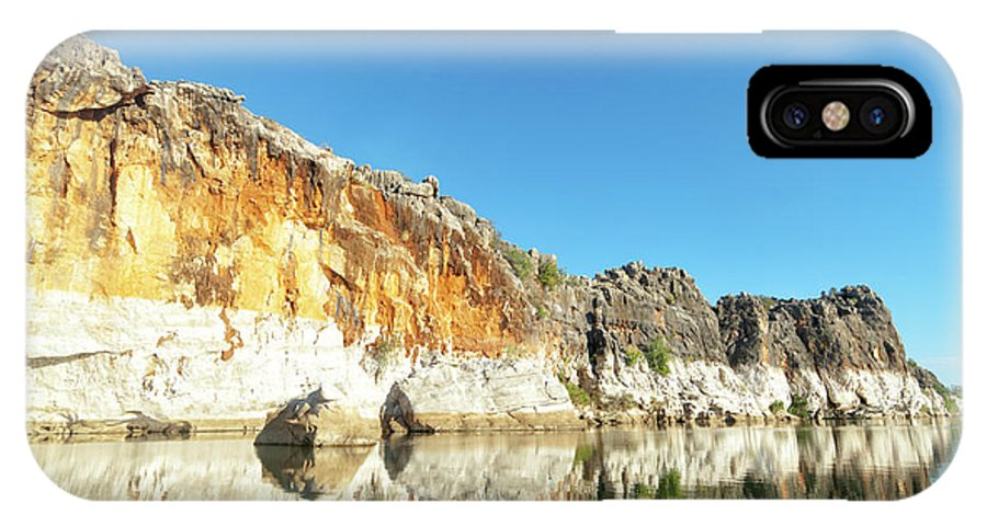 Landscape IPhone X / XS Case featuring the photograph Geikie Gorge by Genevieve Vallee