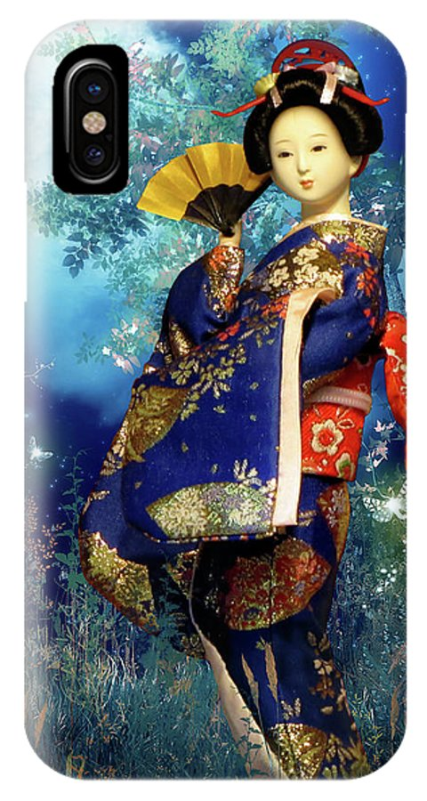 Asia IPhone X Case featuring the photograph Geisha - Combining Innocence And Sophistication by Christine Till