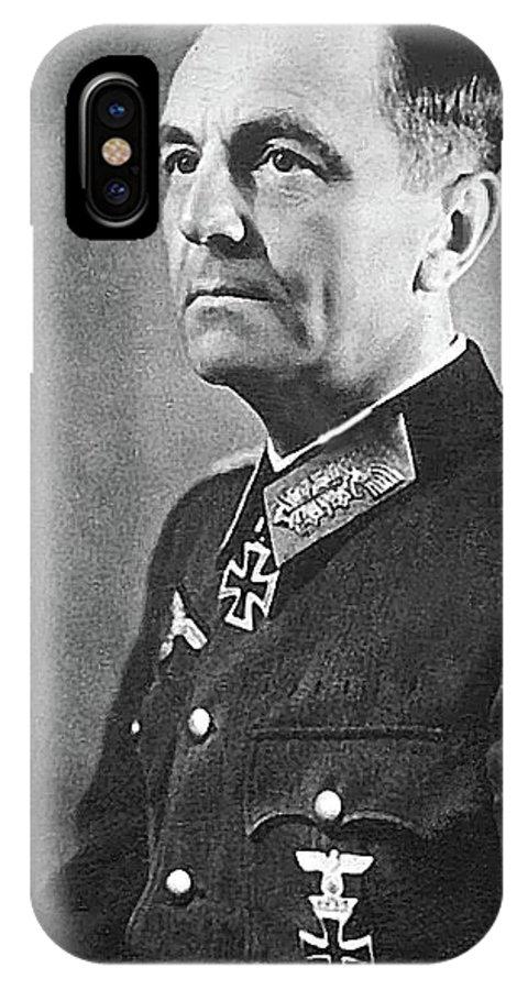 General Friedrich Wilhelm Ernst Paulus 1942 IPhone X Case featuring the photograph General Friedrich Wilhelm Ernst Paulus 1942 by David Lee Guss