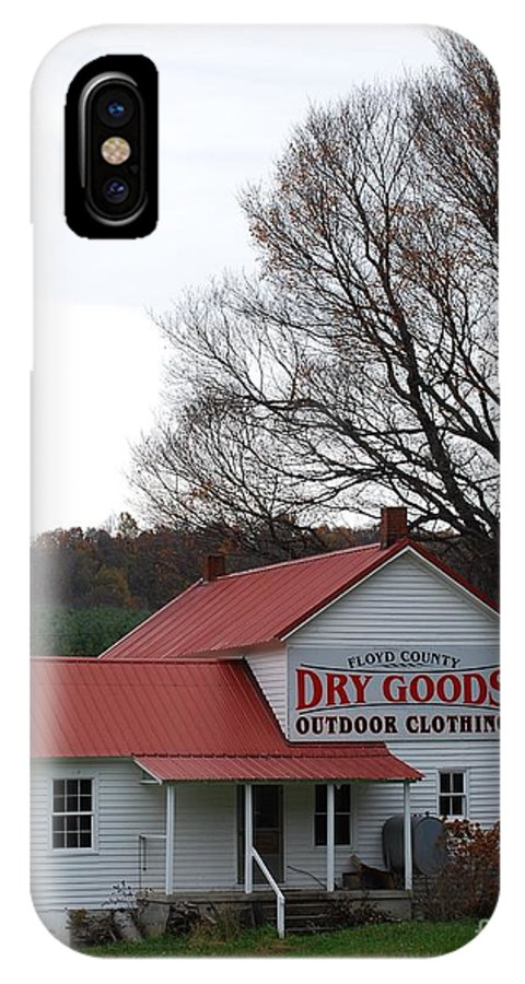 Landscape IPhone X Case featuring the photograph General Store by Eric Liller