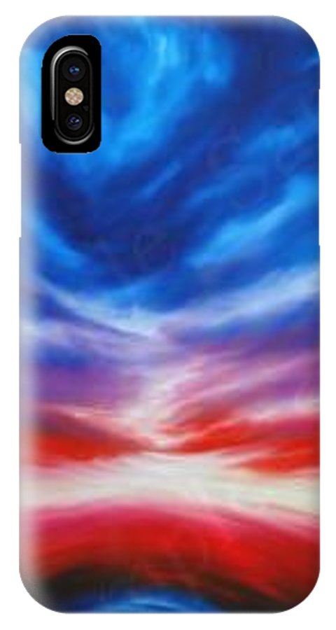 Tempest IPhone X Case featuring the painting Genesis IIi by James Christopher Hill