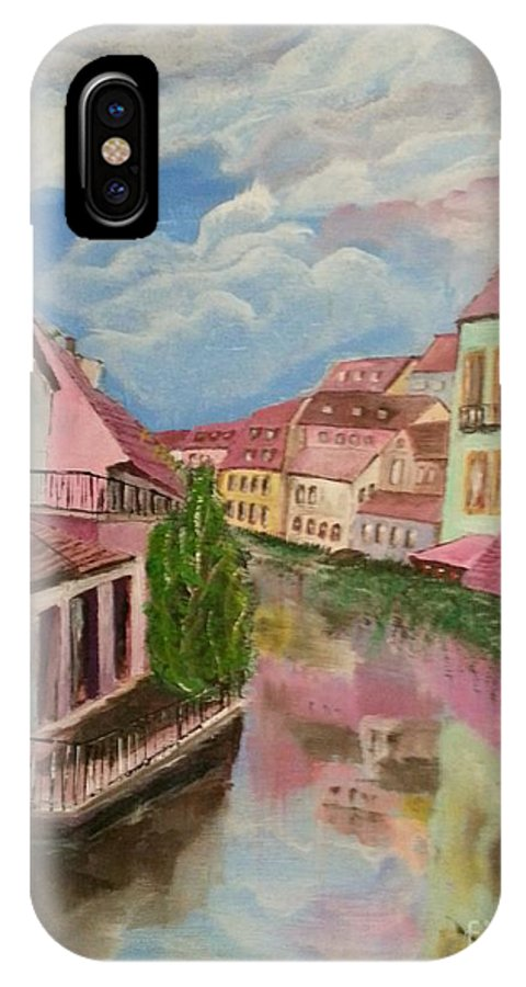 Acrylic IPhone X / XS Case featuring the painting Gent by Eli Gross