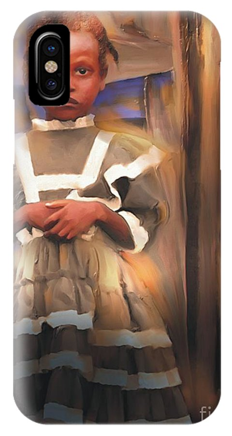 Haiti IPhone X / XS Case featuring the painting Gentle Dignity by Bob Salo