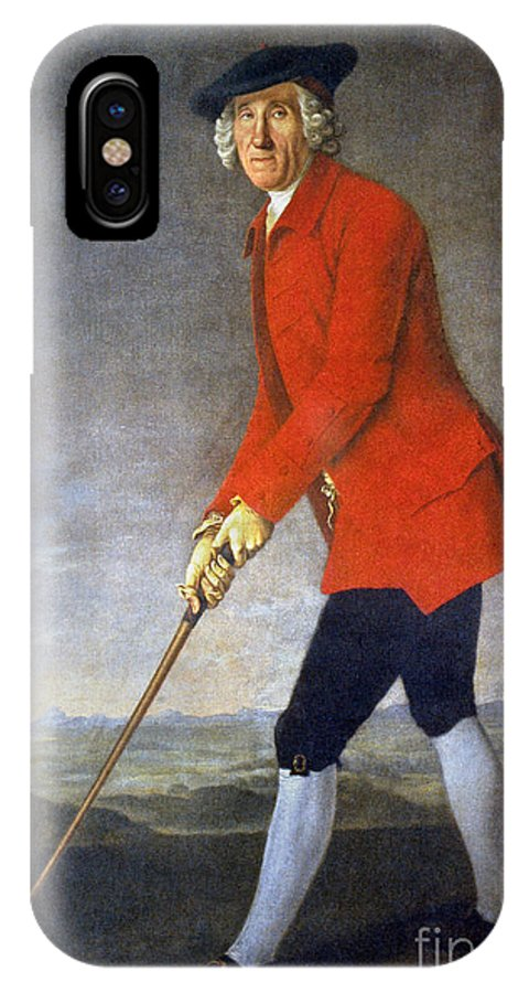 18th Century IPhone X Case featuring the photograph George Chambers: by Granger