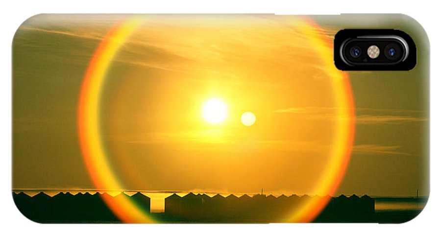 Sun IPhone X / XS Case featuring the photograph Geraldine Orange by Todd Klassy