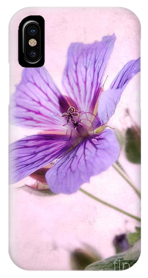 Geranium Maculatum IPhone X Case featuring the photograph Geranium Maculatum by John Edwards