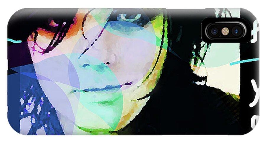 My Chemical Romance.gerard Way IPhone X Case featuring the mixed media Gerard Way My Chemical Romance by Enki Art