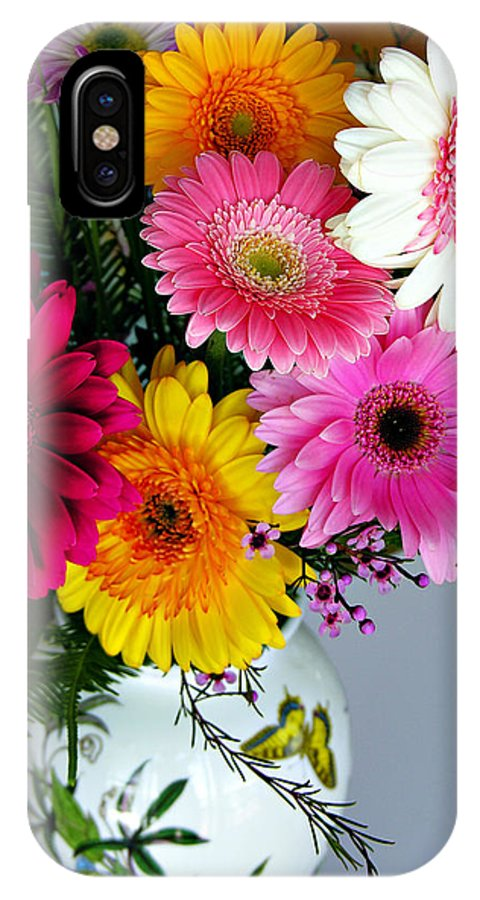 Flower IPhone Case featuring the photograph Gerbera Daisy Bouquet by Marilyn Hunt