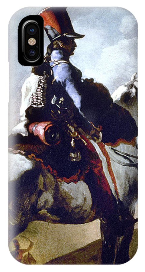 1814 IPhone X Case featuring the photograph Gericault: Trumpeter, 1814 by Granger