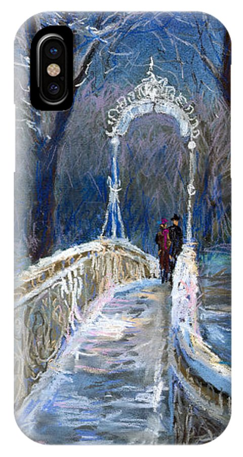 Pastel IPhone X Case featuring the painting Germany Baden-baden 02 by Yuriy Shevchuk