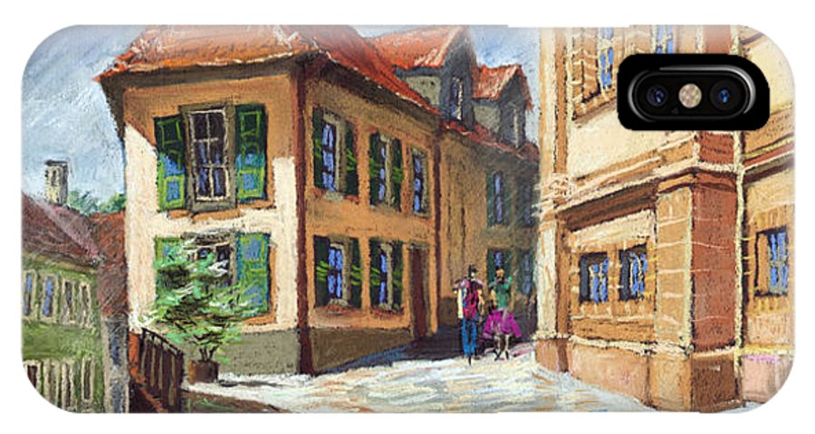 Pastel IPhone X Case featuring the painting Germany Baden-baden 04 by Yuriy Shevchuk