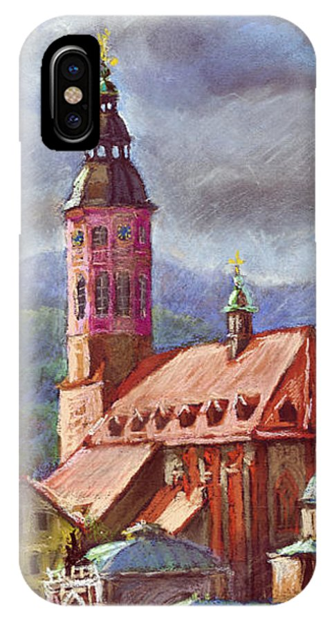 Pastel.germany IPhone Case featuring the painting Germany Baden-baden 05 by Yuriy Shevchuk