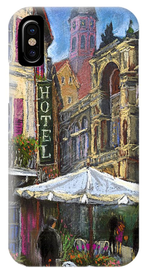 Pastel IPhone X Case featuring the painting Germany Baden-baden 07 by Yuriy Shevchuk