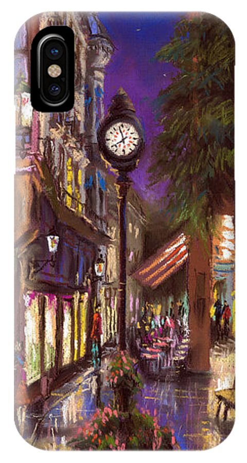 Pastel IPhone Case featuring the painting Germany Baden-baden 11 by Yuriy Shevchuk