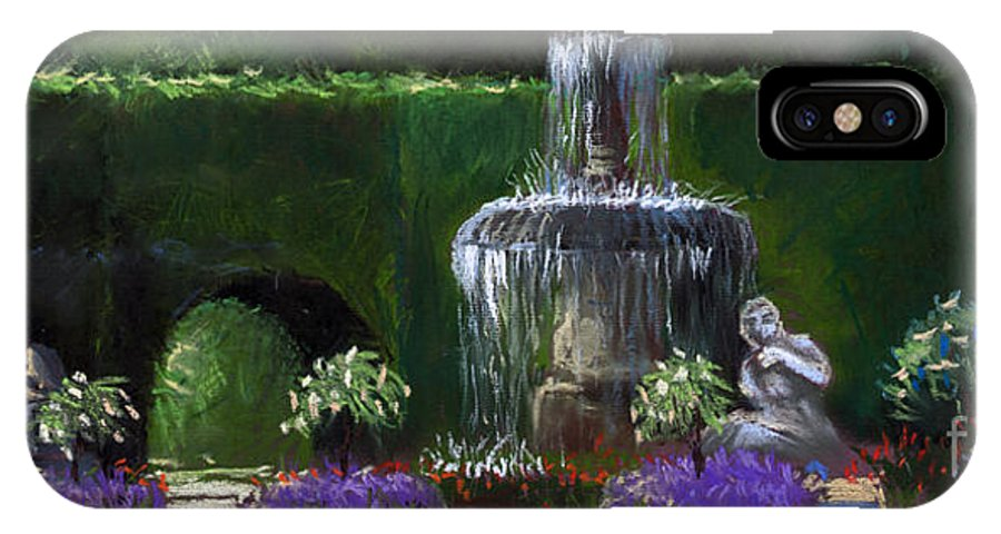 Pastel IPhone Case featuring the painting Germany Baden-baden 15 by Yuriy Shevchuk