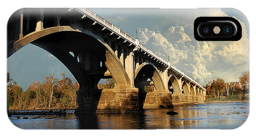 Scenic Tours IPhone X Case featuring the photograph Gervais Street Bridge, Columbia, Sc by Skip Willits