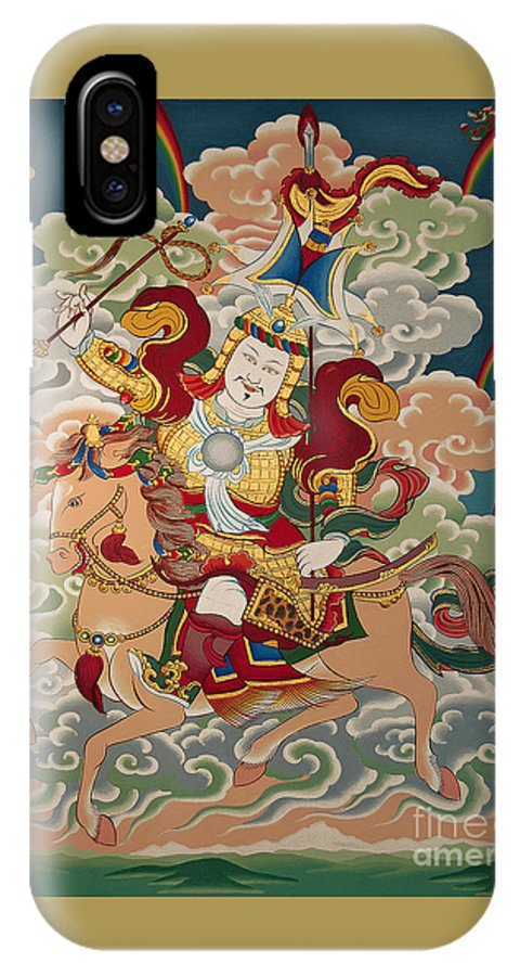 Thangka IPhone X Case featuring the painting Gesar Gyalpo by Sergey Noskov