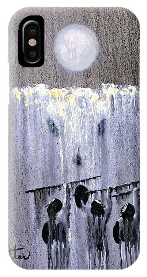 American Indian IPhone Case featuring the painting Ghost Dance by Patrick Trotter