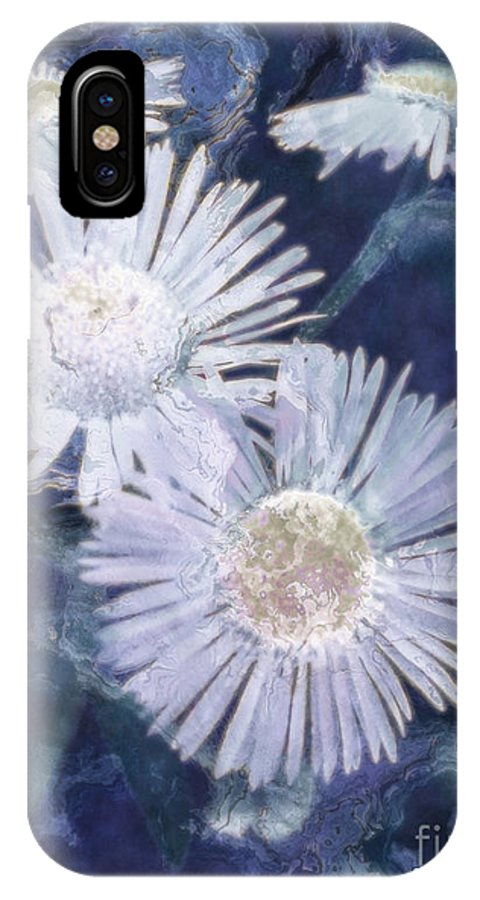 Asters IPhone X Case featuring the painting Ghost Flowers by RC DeWinter