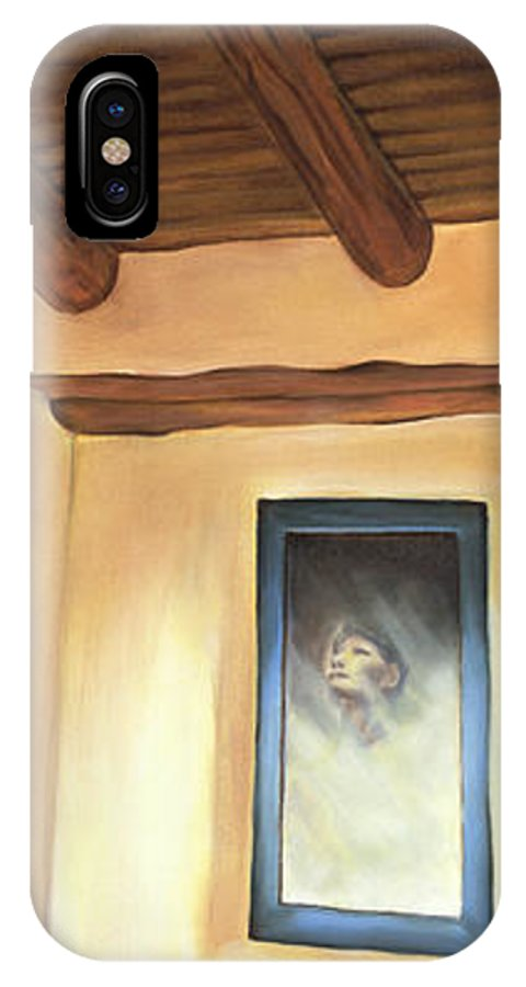 Ghost IPhone X Case featuring the painting Ghost House by Sandi Snead