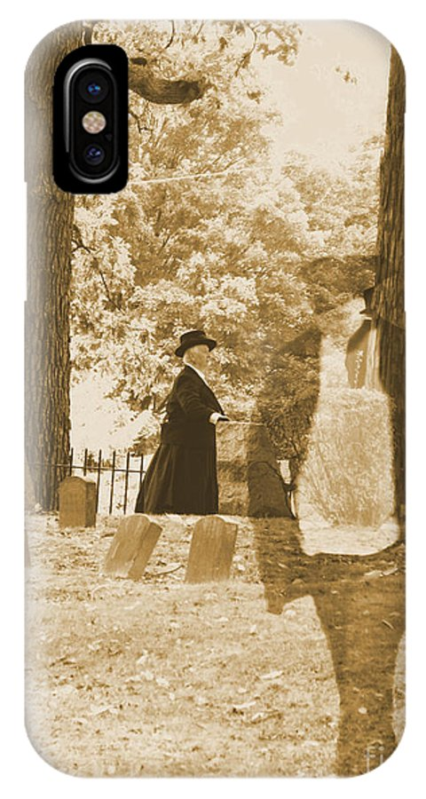Art IPhone X Case featuring the photograph Ghost In The Graveyard by September Stone