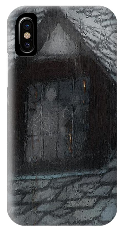 Ghost IPhone X Case featuring the painting Ghost Rain by RC DeWinter
