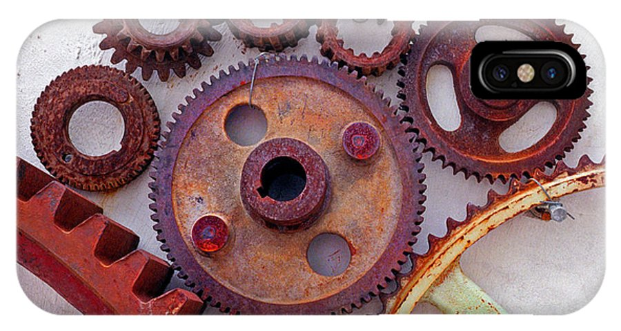 Gears IPhone X Case featuring the photograph Ghost by Skip Hunt