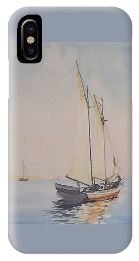 Sailing IPhone X Case featuring the painting Ghosting Up by Philip Fleischer