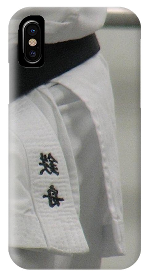 Karate IPhone X Case featuring the photograph Gi by Kelly Mezzapelle
