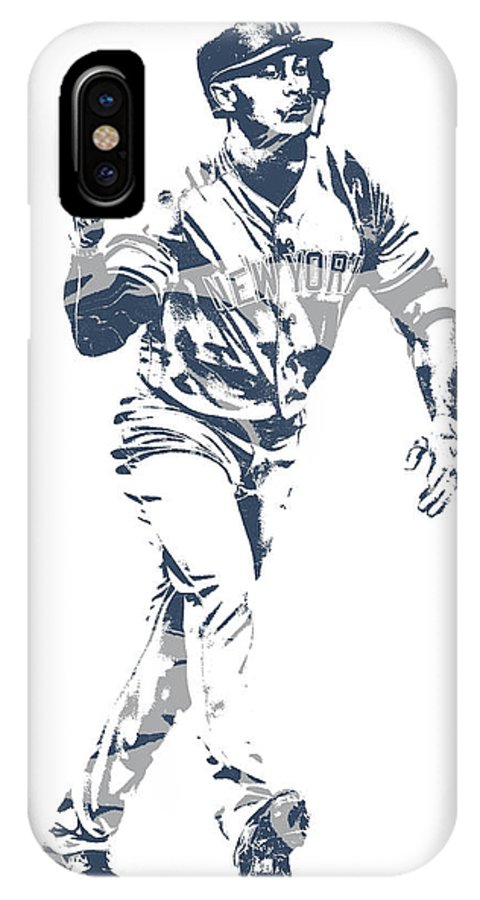 61a1742897e Giancarlo Stanton IPhone X Case featuring the mixed media Giancarlo Stanton  New York Yankees Pixel Art