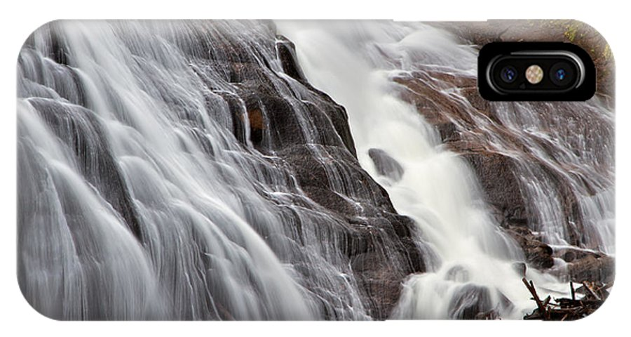 Gibbon Falls IPhone X Case featuring the photograph Gibbon Falls by Daryl L Hunter